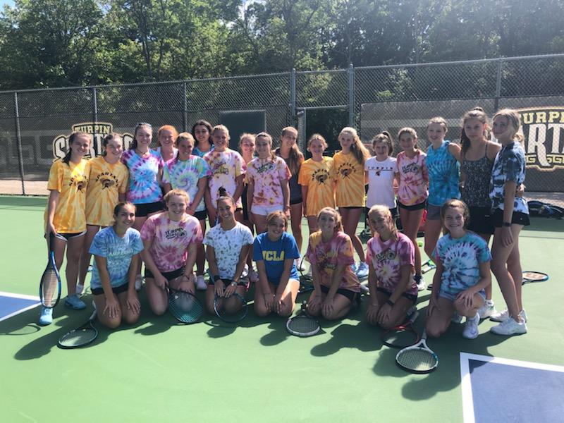 Tennis team sporting Tie-Dye