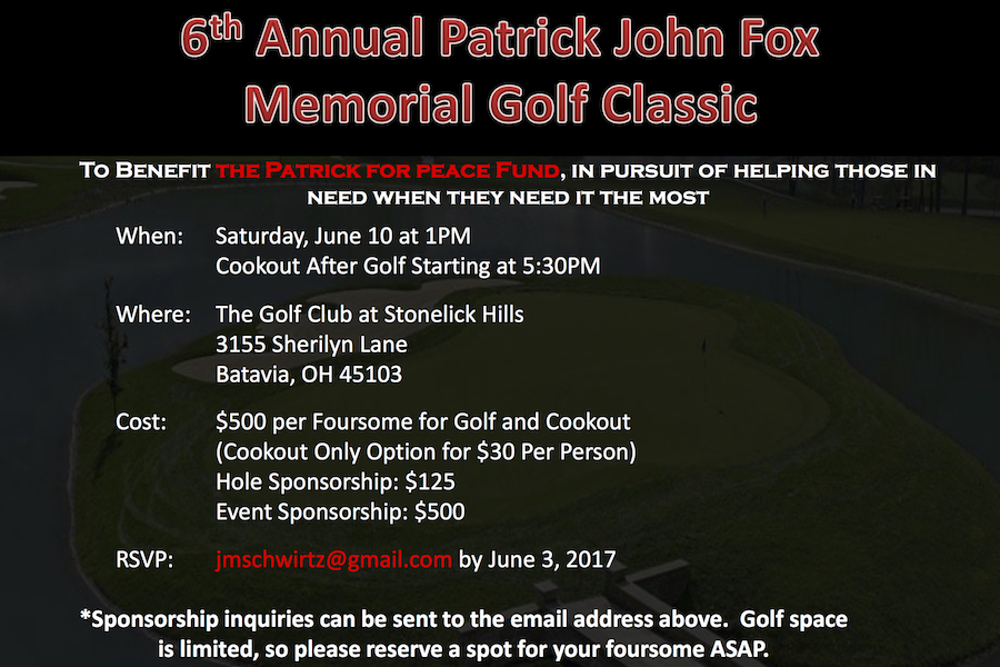 6th Annual Patrick John Fox Memorial Golf Classic