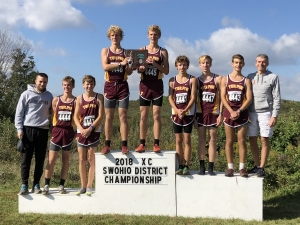 Varsity Boys Cross Country Take the podium after their 2nd place District finish